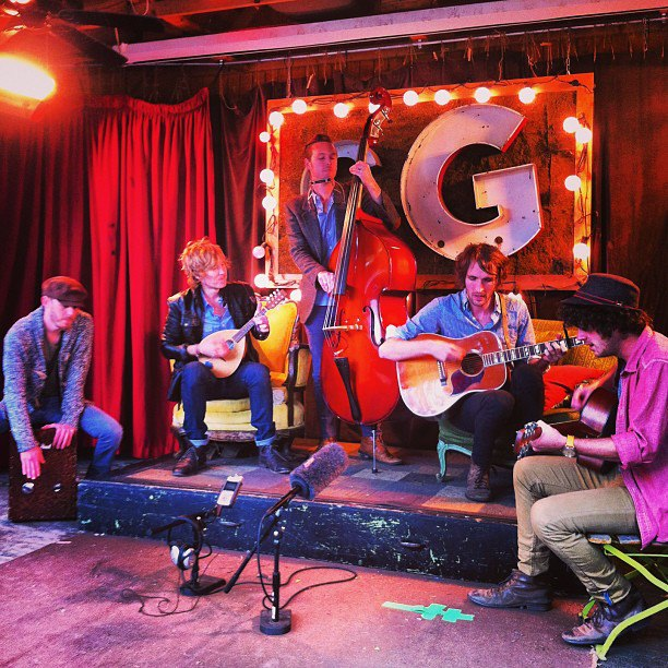 Green River Ordinance shooting a Promotion Video for their new EP, Chasing Down The Wind, at Common Grounds - April 2013