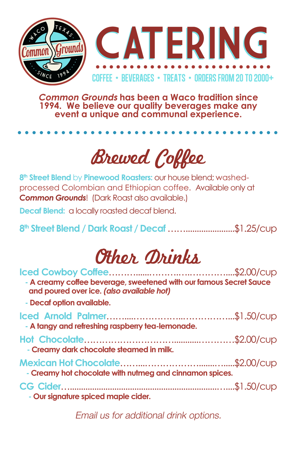 Coffee Catering & Beverages Flyer