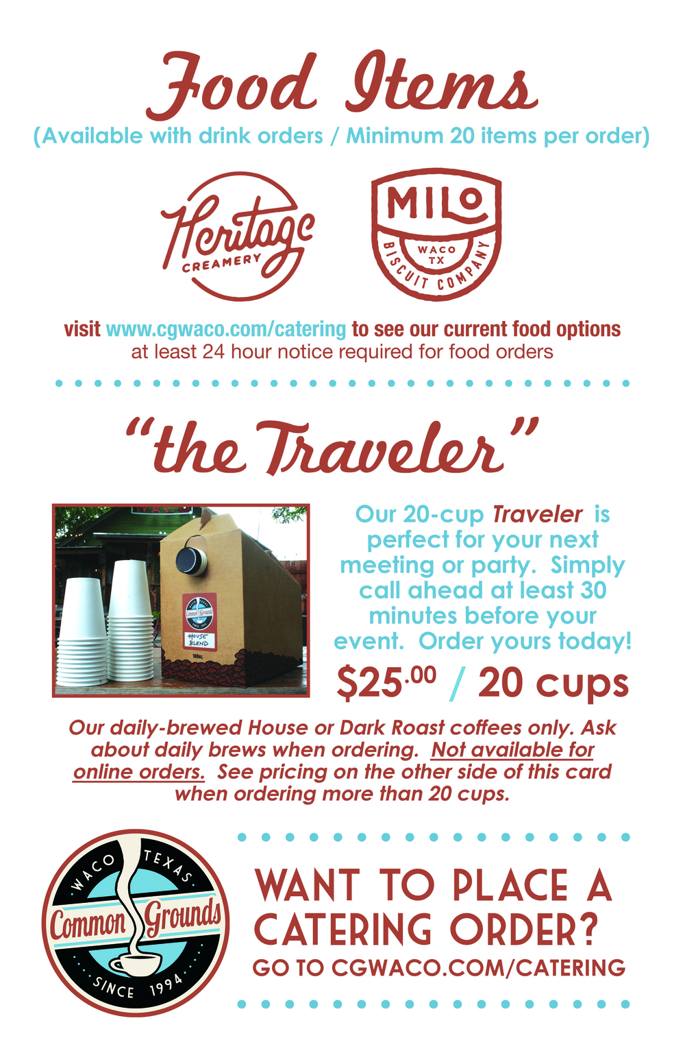 Food & Traveler Box Flyer