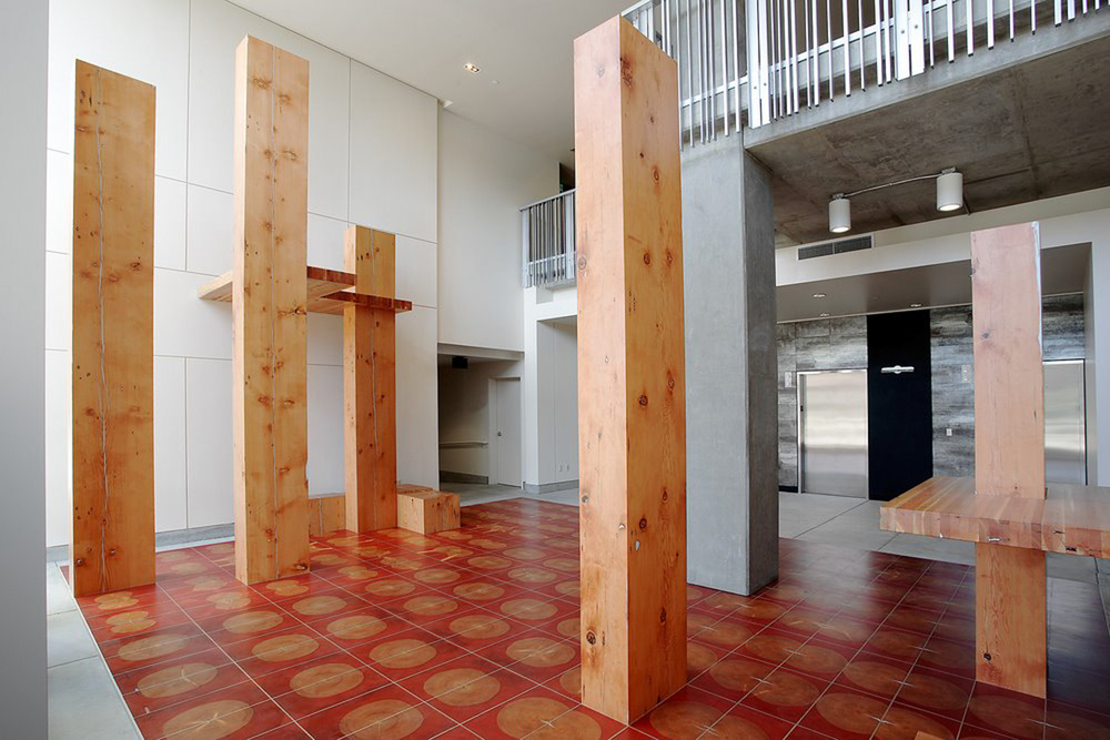 Leo Berk,  Threshold  (2006), Rollin Street Flats entrance lobby