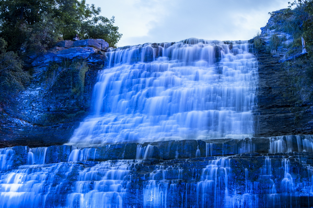 Hamilton Waterfall Illumination - Albion Falls by Marek Michalek
