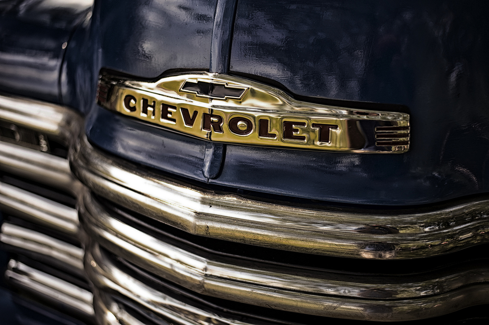 Vintage Car Automotive Photography - Chevy Grill - Marek Michalek.jpg