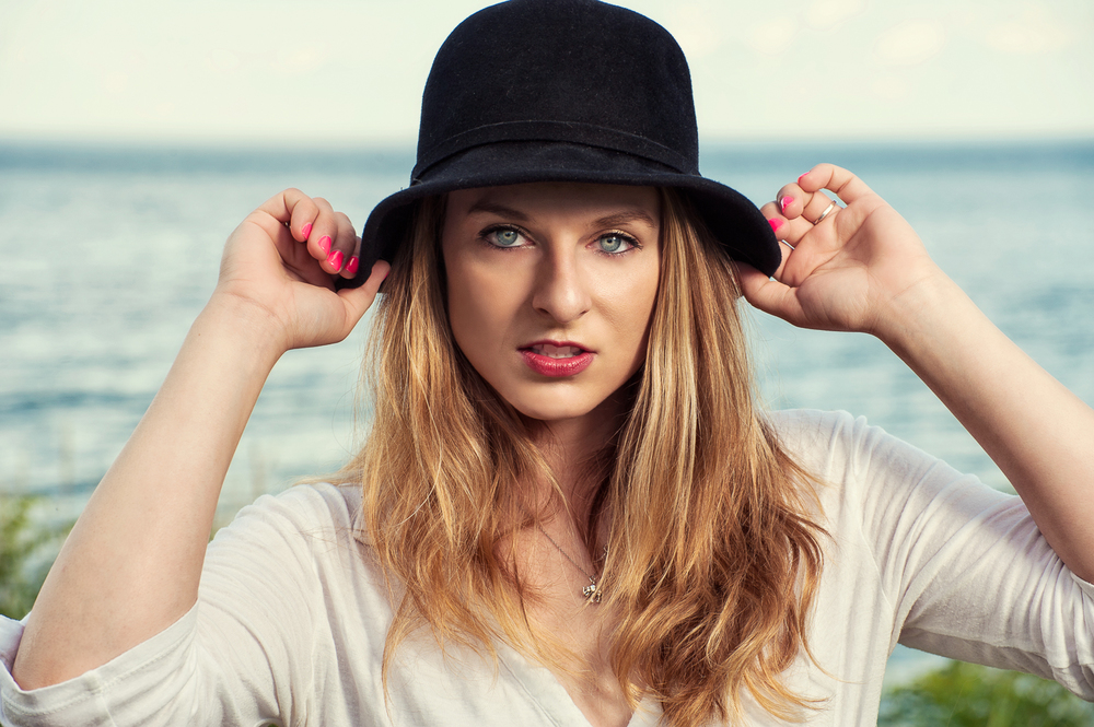 Hamilton Toronto Fashion Photographer - Women's black hat by Marek Michalek.jpg
