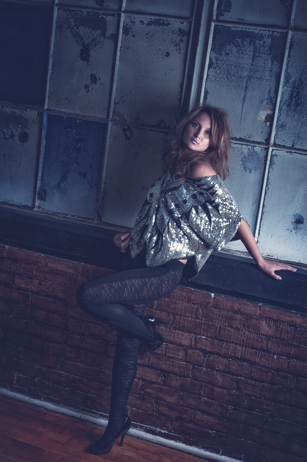 Hamilton Toronto Female Fashion Photographer - Sequin Top by Marek Michalek.jpg