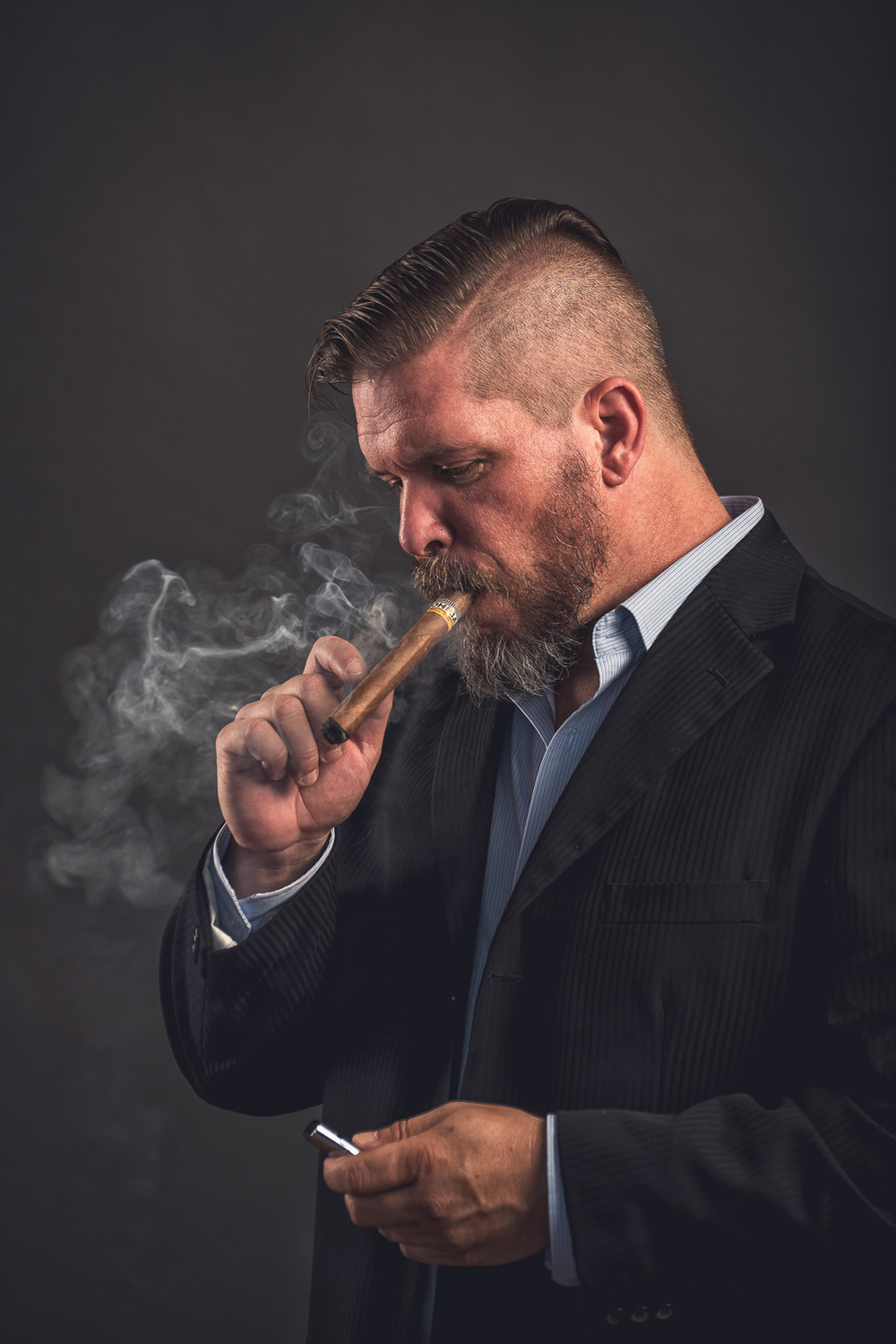 Hamilton Toronto Portrait Photographer - Smoking Cuban Cigar by Marek Michalek.jpg