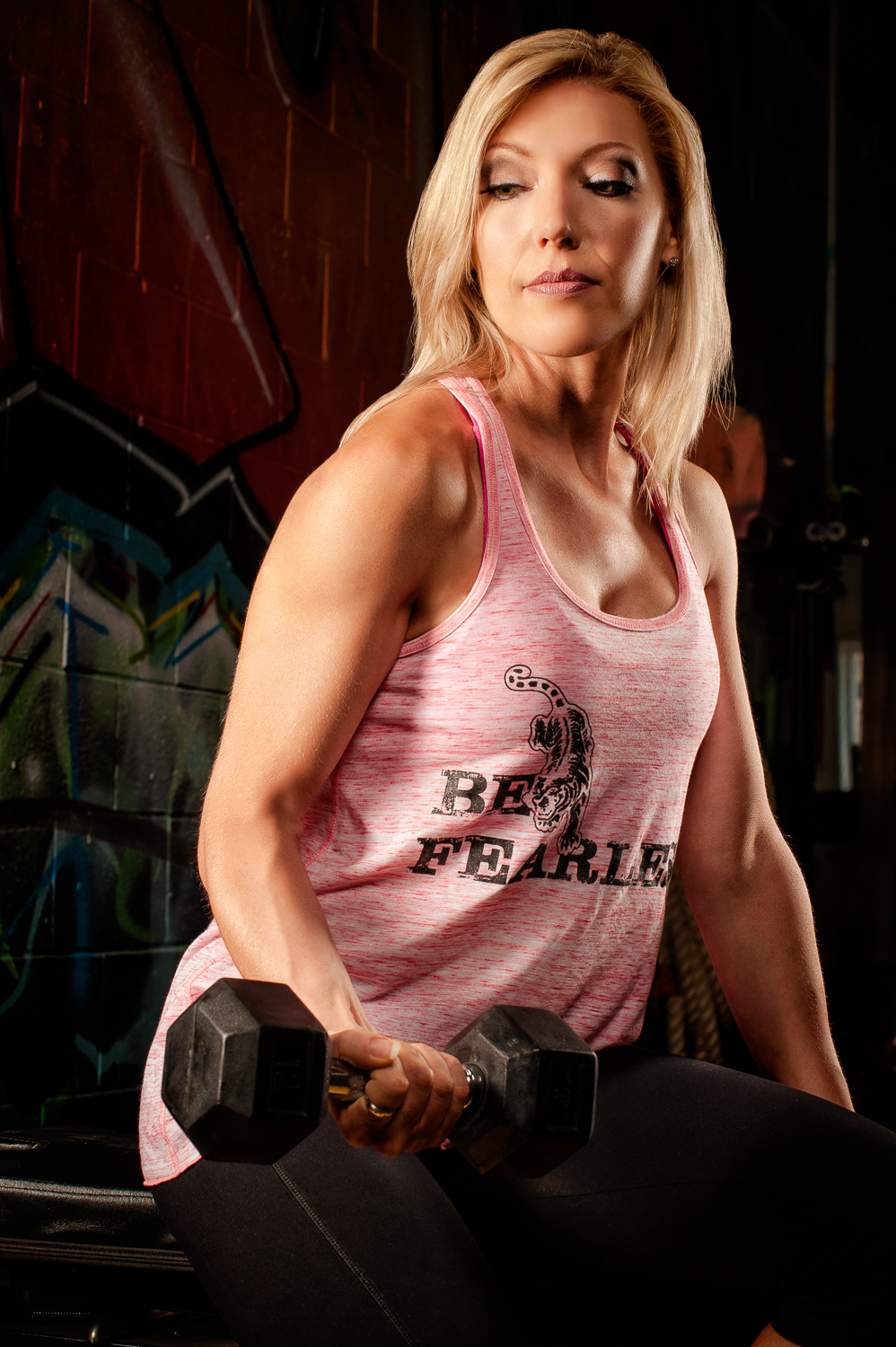 Hamilton Toronto Fitness Photographer - Metamorfose Clothing Line Be Fearless Pink by Marek Michalek.jpg