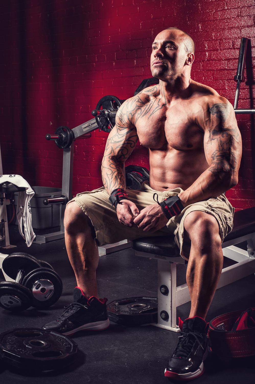 Hamilton Toronto Fitness Photographer - Bodybuilder Shane Roberts Resting by Marek Michalek.jpg