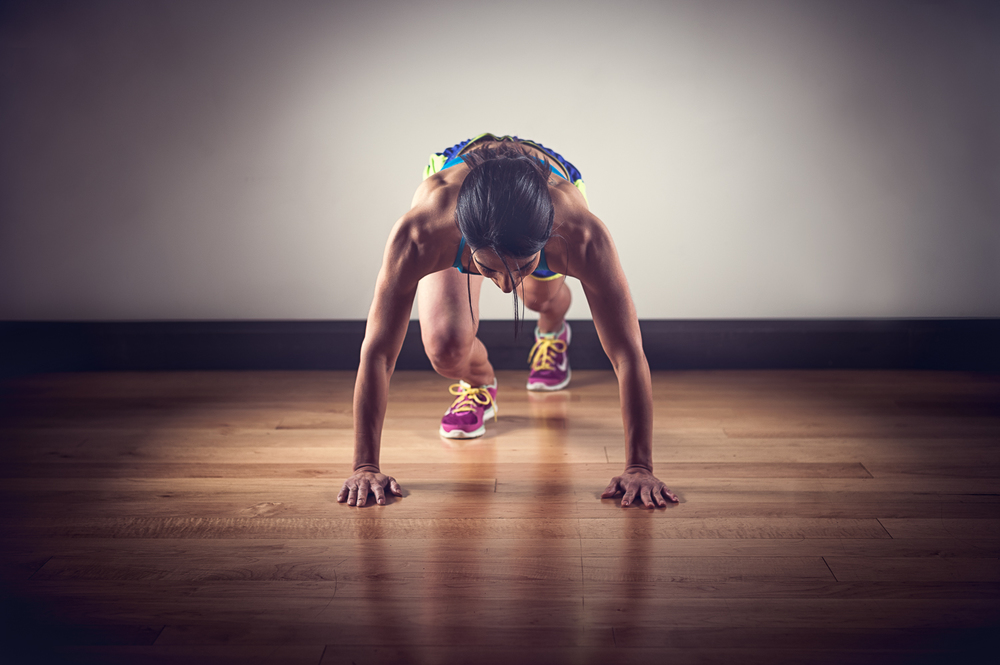 Hamilton Toronto Fitness Photographer - Female Model Pushup by Marek Michalek.jpg