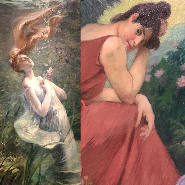 """Had a great day exploring the 1900's #Paris exhibit at the @fristartmuseum #Nashville """"#Ophelia Drowning"""" #paulalbertsteck """"Séjour de paix et de joie : méditation"""" #victorprouvé #daytrip #museum"""