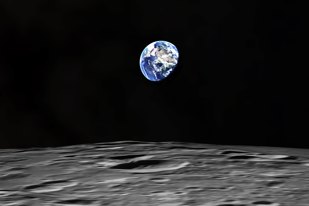 Earthrise, an iconic image. You can see this and more in  Welcome to the Universe .