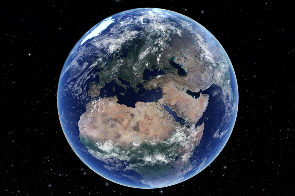 Our planet Earth, from Welcome to the Universe.