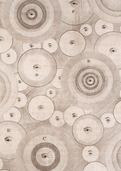 Thomas Wright, Plate XXXII in An Original Theory or new Hypothesis of the Universe. London, 1750 (QB42 .W7 1750).