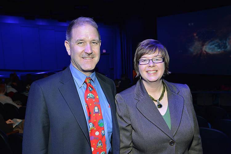 Astronaut John Grunsfeld and Adler President Dr. Michelle B. Larson