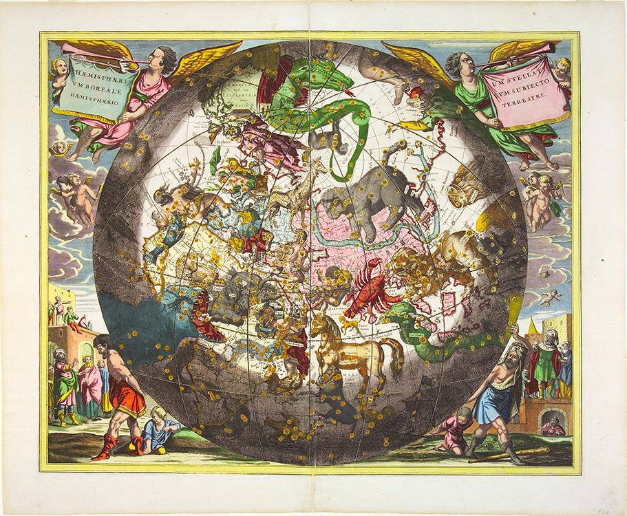 "Andreas Cellarius, ""Northern Stellar Hemisphere"", Plate 26 from Harmonia Macrocosmica (1660)"