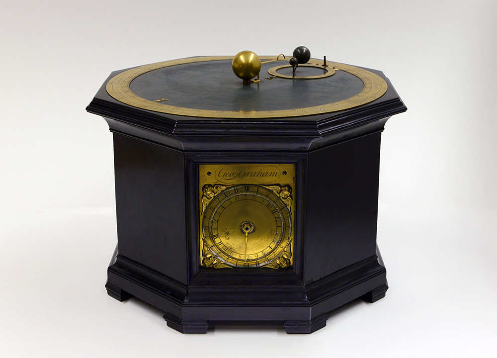 Tabletop planetarium by George Graham. Adler Planetarium collection, accession A-156.