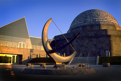 Side view of the Adler Planetarium