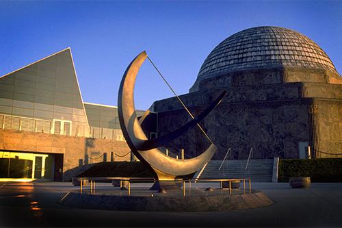 Side view of the Adler Planetarium