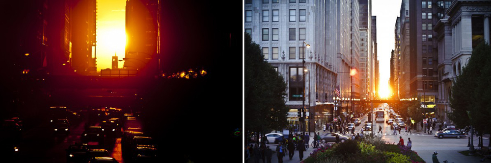 Examples of Chicagohenge [Images from Ken Ilio's Uncommon Photographers].