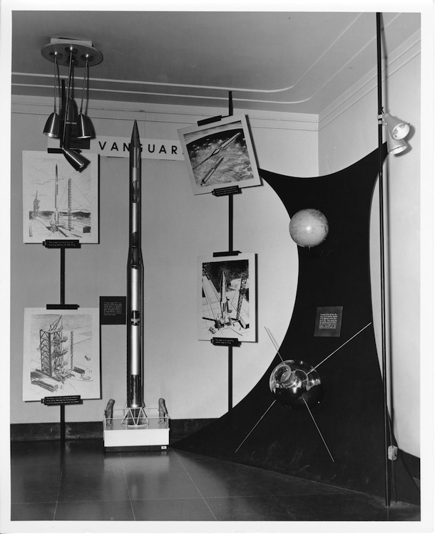 An Adler exhibition about Project Vanguard (Adler Planetarium Collection, PHA-153).