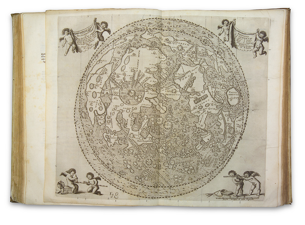 Johannes Hevelius (1611–1687), Moon Map from Selenographia: sive, Lunae descriptio. Danzig, 1647 (Adler Planetarium Collection, QB581 .H4 1647).