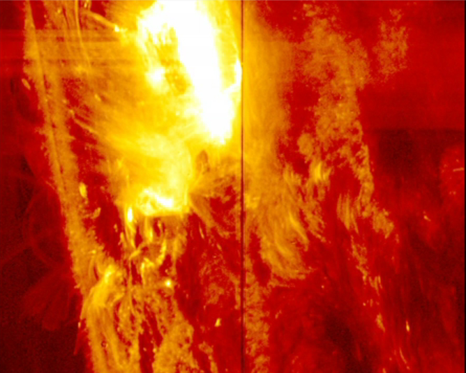 On Jan. 28, 2014, NASA's IRIS witnessed its strongest solar flare since it launched in the summer of 2013. Image Credit: NASA/IRIS