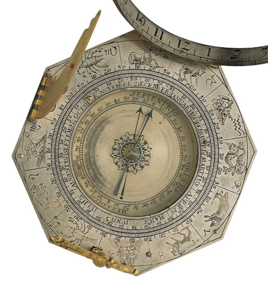 Image 2: Johann Mathias Willebrand, Augsburg-type sundial. Augsburg, Germany, 1678-1726 (Adler Collection, M-299).