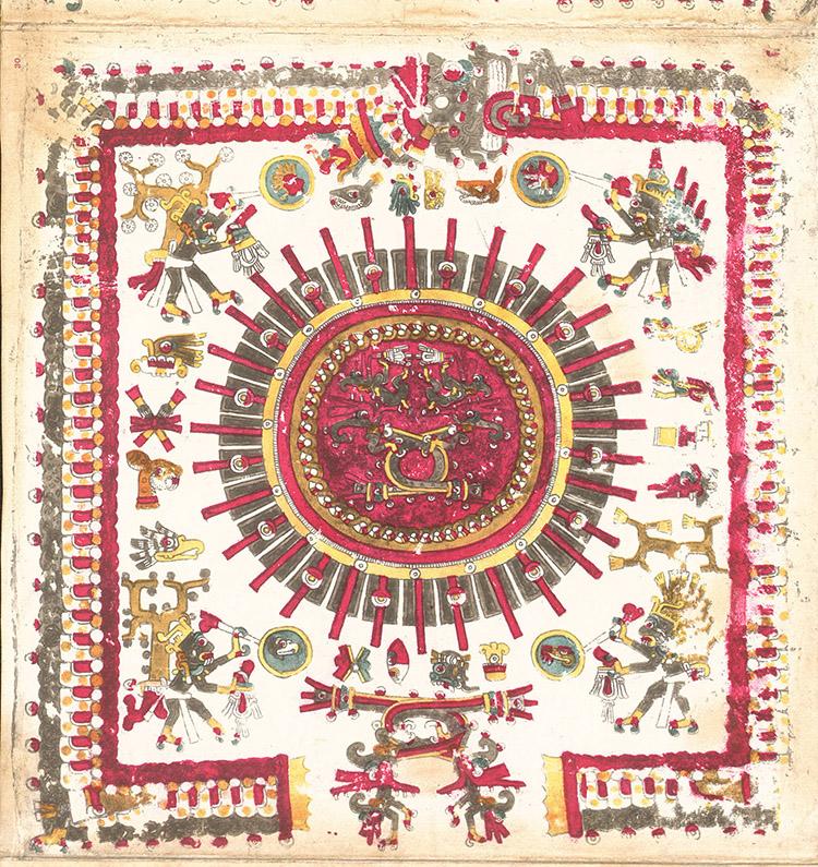 """""""Borgia 30,"""" 1898 facsimile edition, online at FAMSI.org. Wikimedia Commons."""