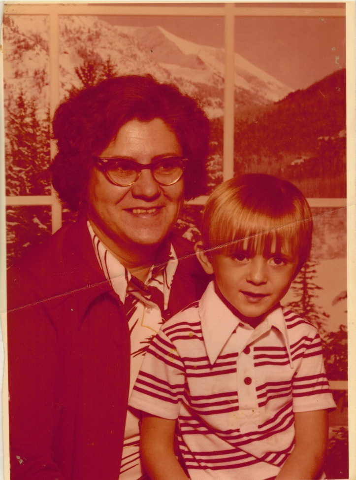 Me and Grandma Ruby, taken at the K-Mart 1976