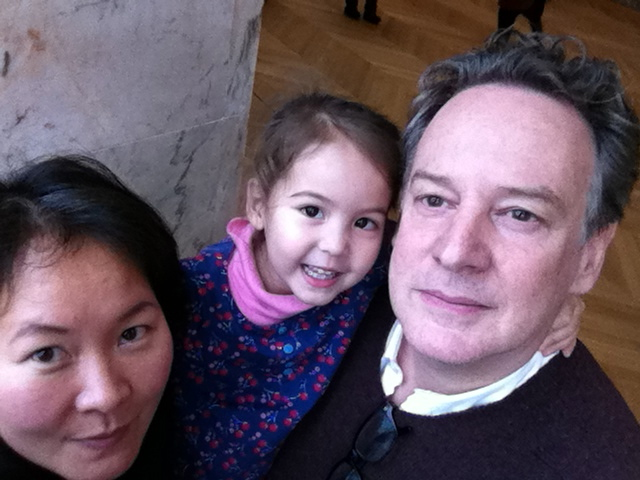 Filmmakers Anna Sang Park & Eric McGinty, with their daughter Oona