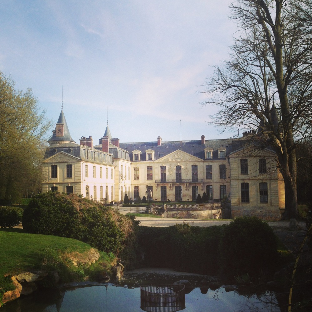 We stayed the night before in Ermenonville just north of Paris. It's a beautiful place in the countryside and very much worth a visit. Here is the town's Chateau which sits opposite a large park open to the public.
