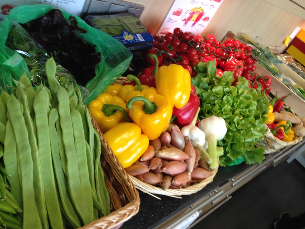 Fresh veg, ready for the shoot.