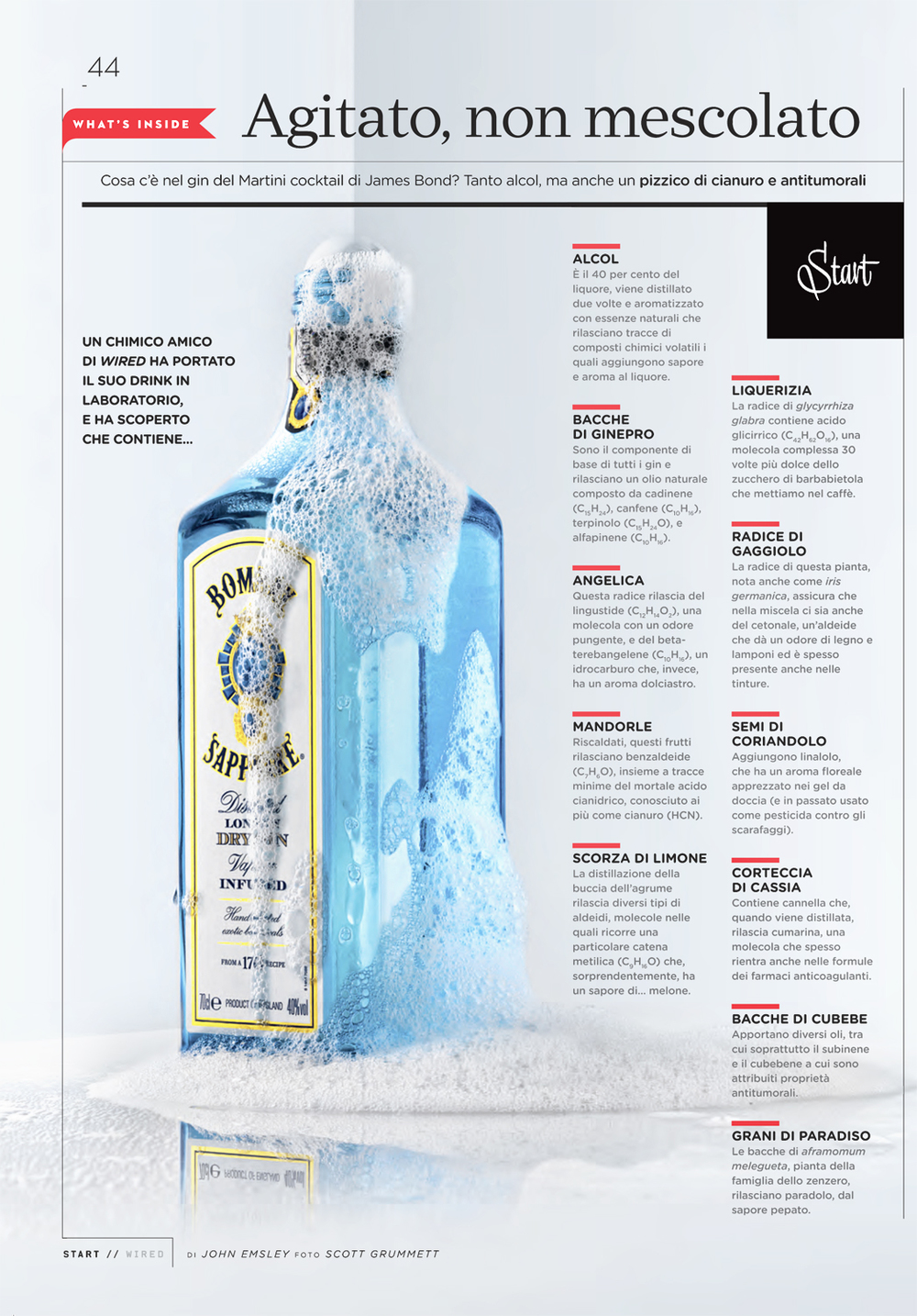 Wired Italia: What's Inside Bombay Sapphire