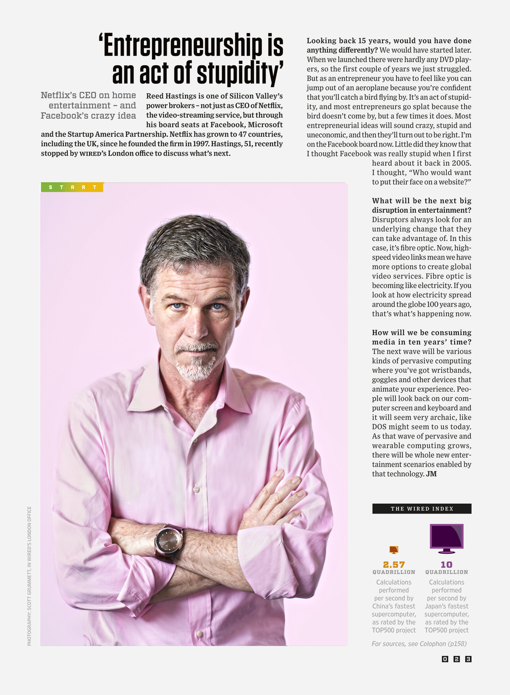 Wired: Reed Hastings, CEO Netflix.
