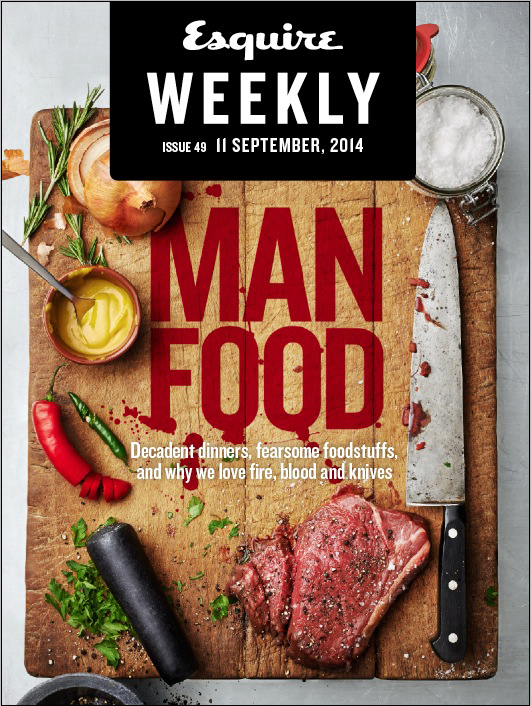 Esquire Weekly: Man Food Cover
