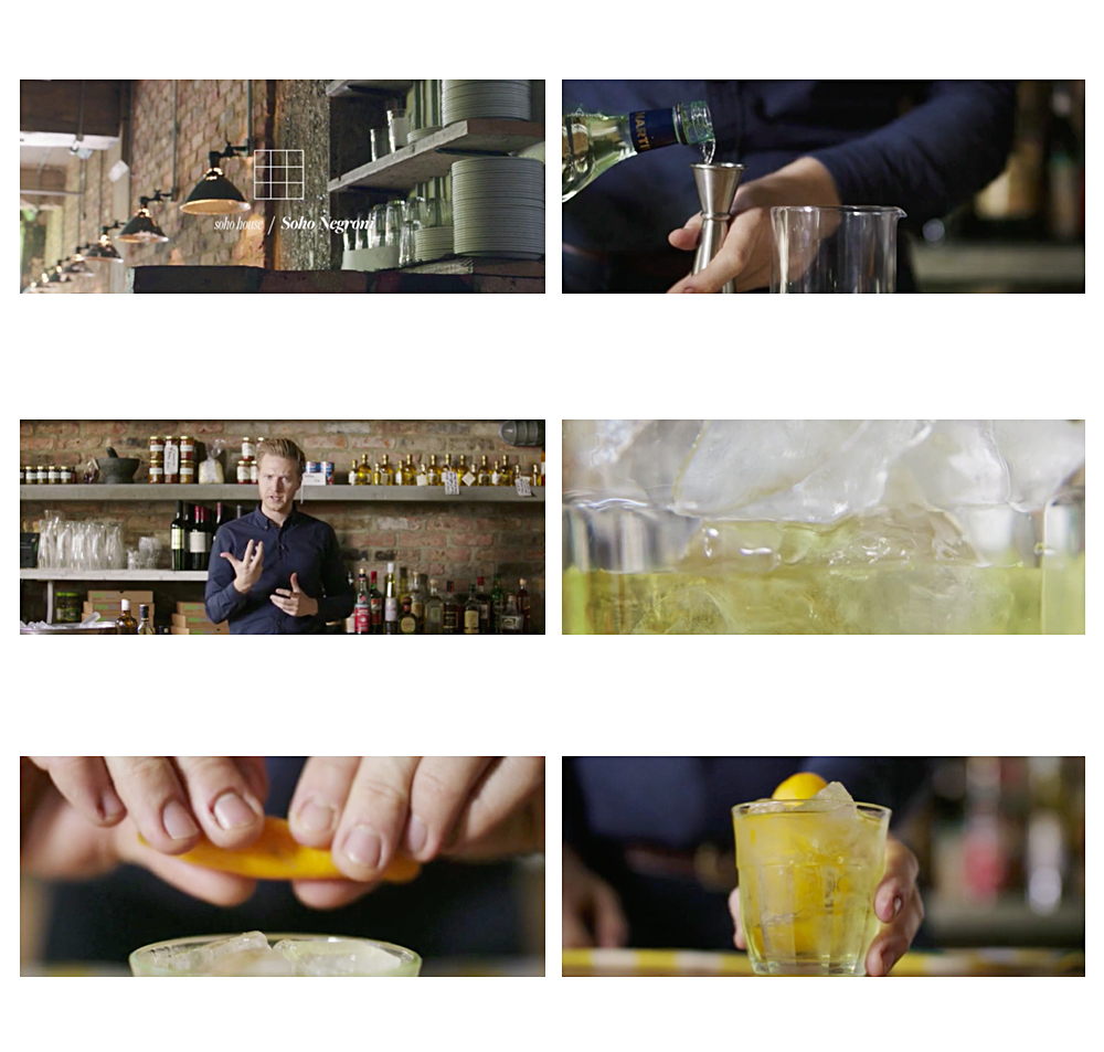 Soho House Cocktail Video Directed by Scott Grummett. How to make a Negroni  cocktail for staff training instructions instructional director