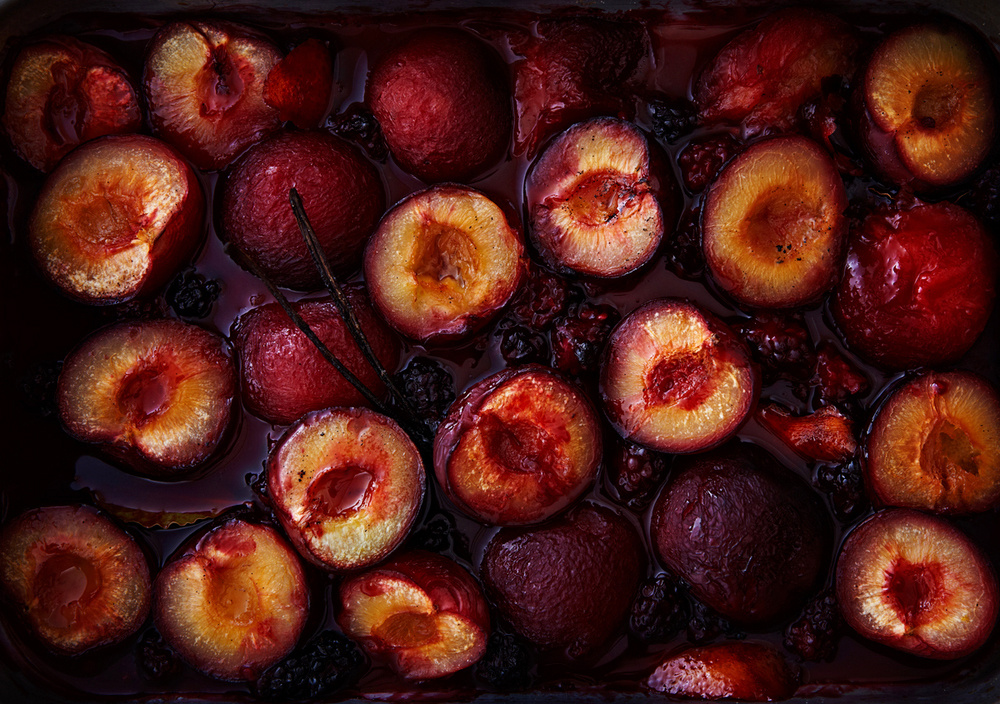 Baked Plums.