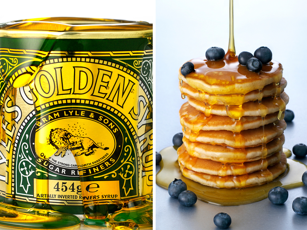 Lyle's Golden Syrup & Blueberry Pancakes.