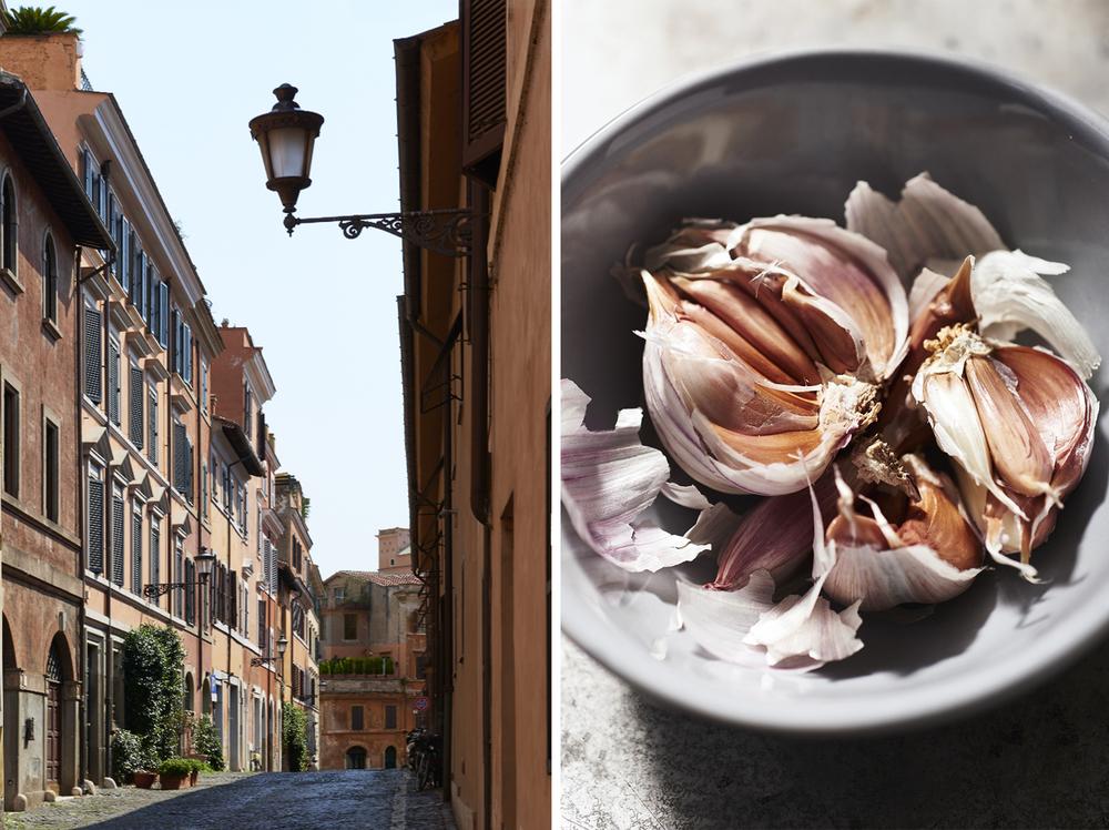 Italy: Roma Trastevere, Garlic.