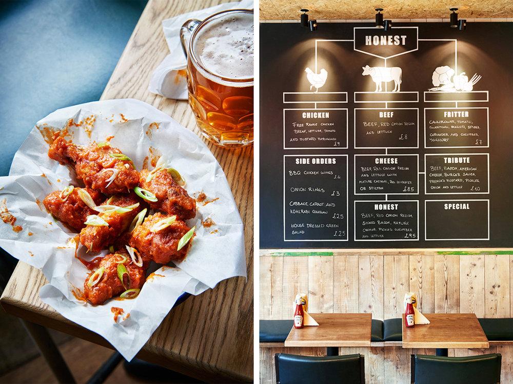 Honest Burgers: Wings & Interiors