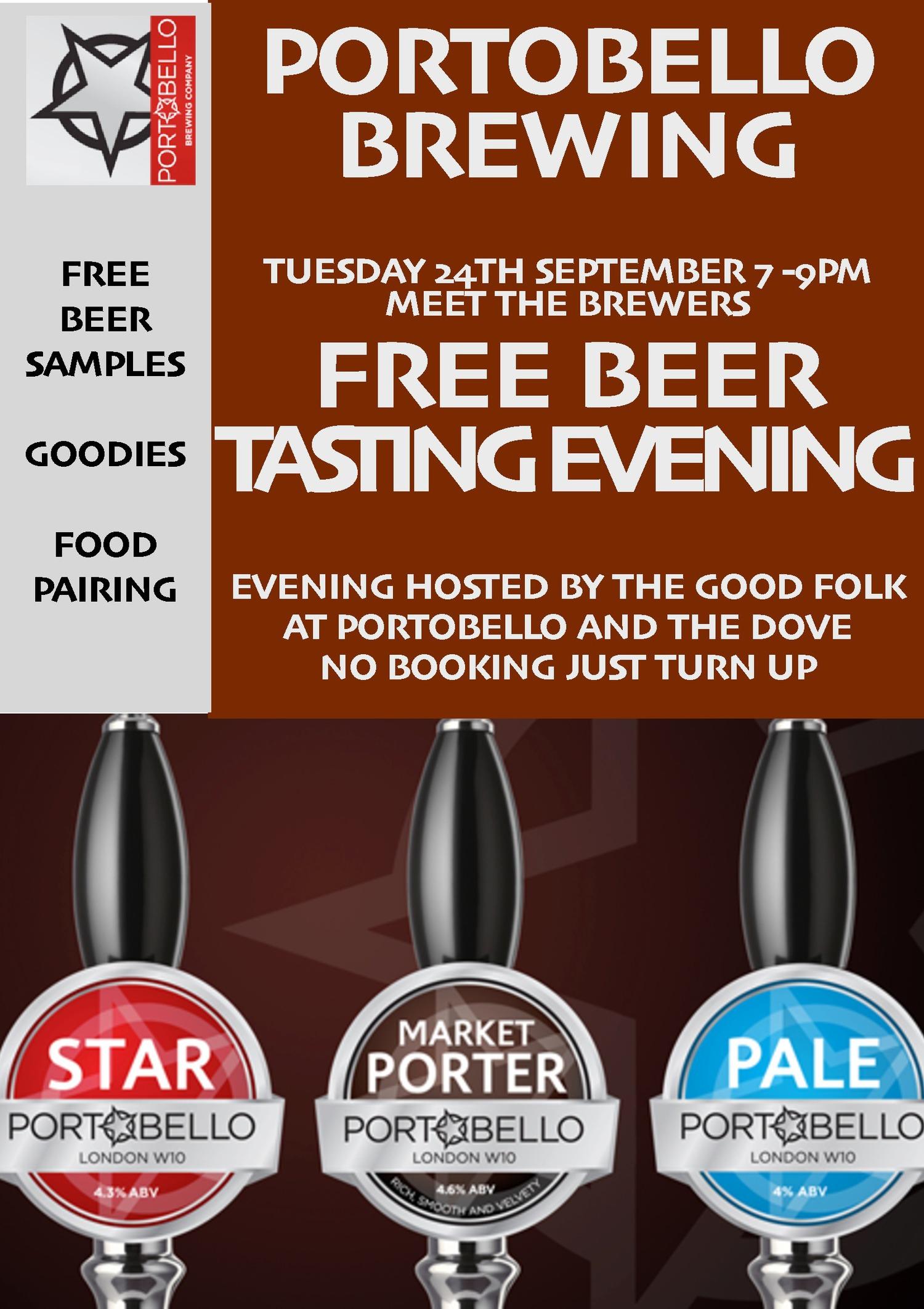 Portobello Brewing - Beer tasting evening 24th September