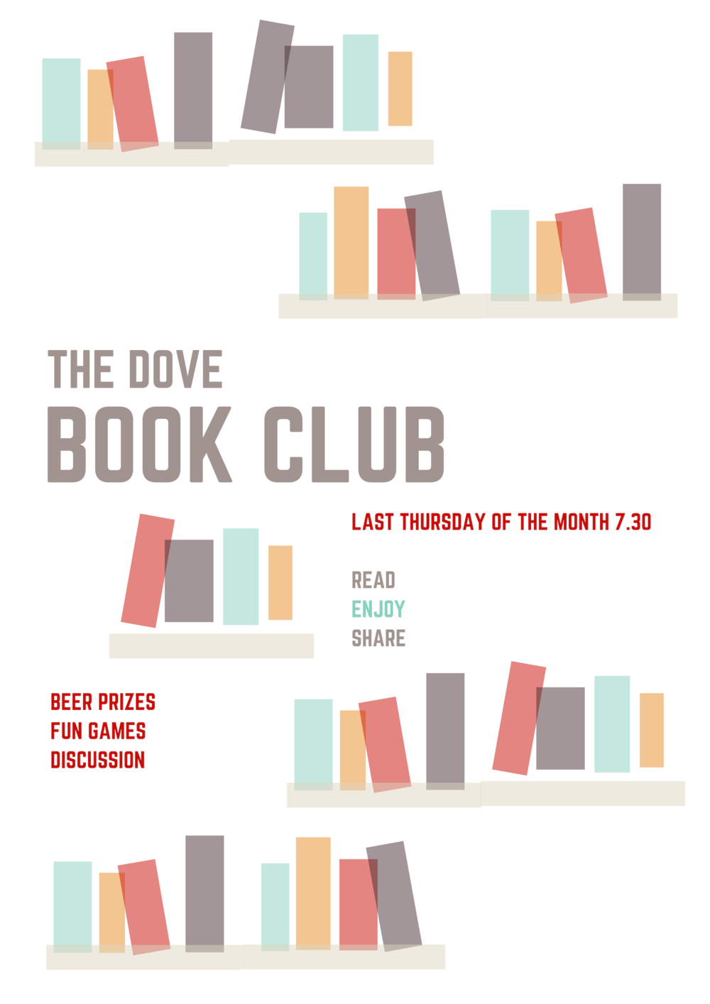 First of our new monthly book clubs Thursday 28th February.