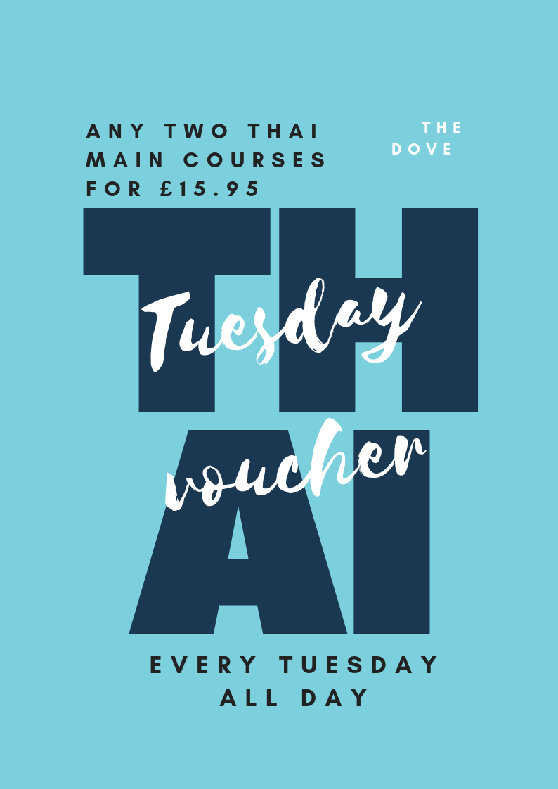 Take two of any of our Thai mains or specials. - £15.95 for two.