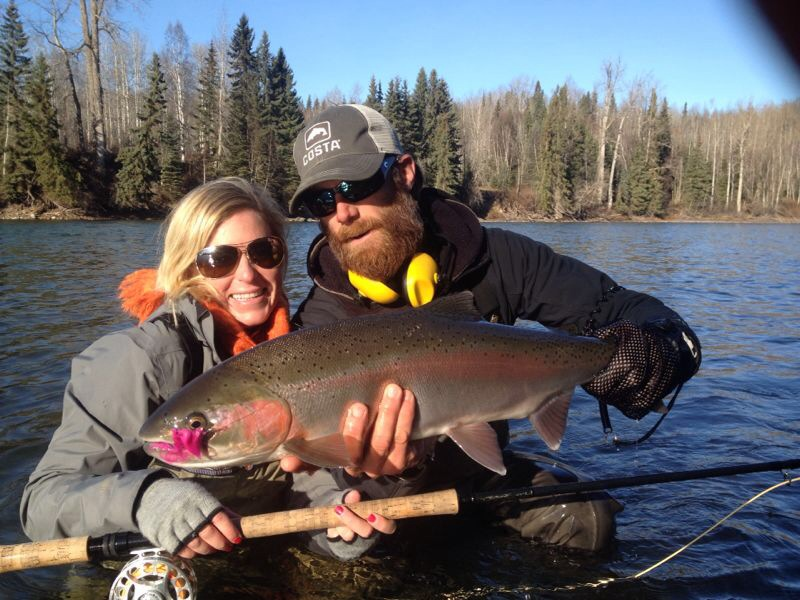 My first STEELHEAD! Incredible moment & fish. Thanks babe for teaching me how to swing & sticking me on that sweet run.
