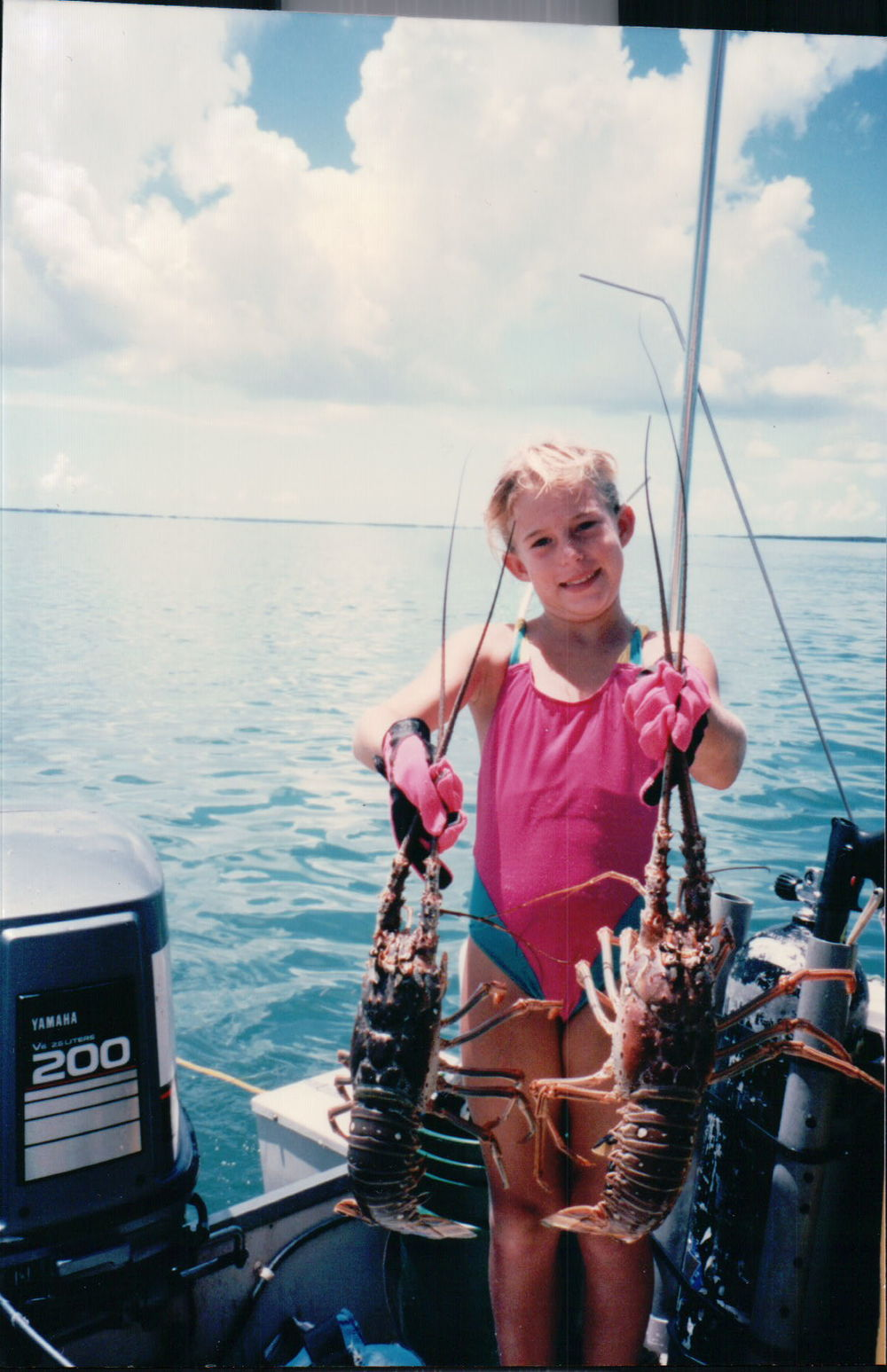 Getting bigger by the minute and getting better at lobstering in the Keys.