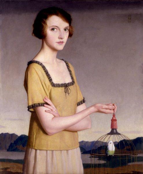 Winifred Radford,  1921 Meredith Frampton (1894-1984)