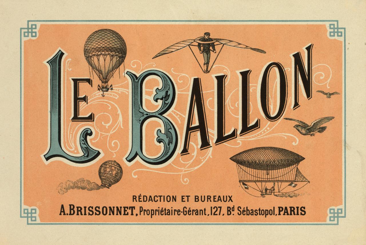 Le Ballon,  ca. 1883 Library of Congress