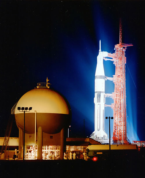 Apollo 7 at Night,  1968 NASA