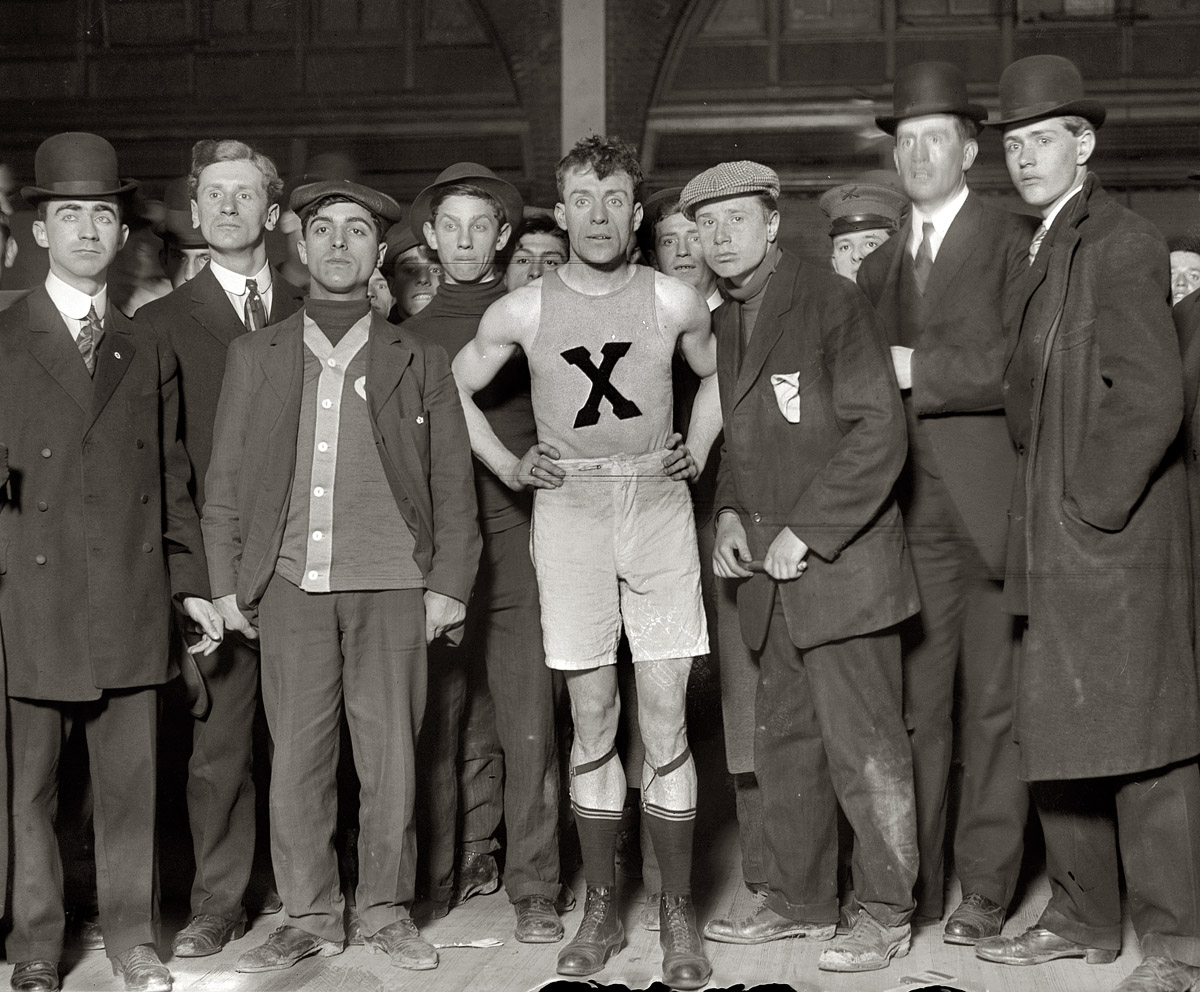 James Clarke, winner of Brooklyn Marathon, with others , 1909  George Grantham Bain