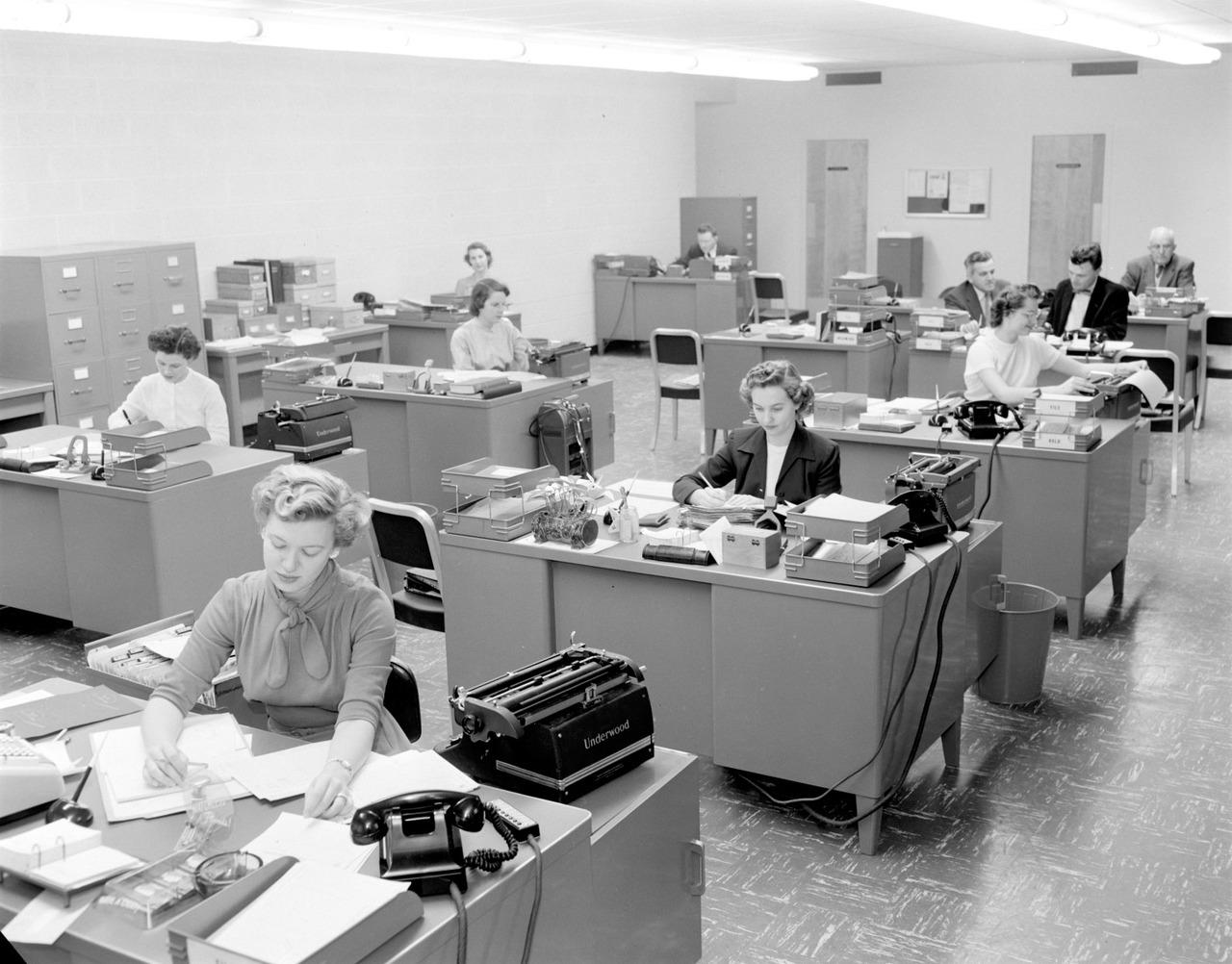 Interior of the Texas Employees Insurance Association , 1955    Neal  Douglass