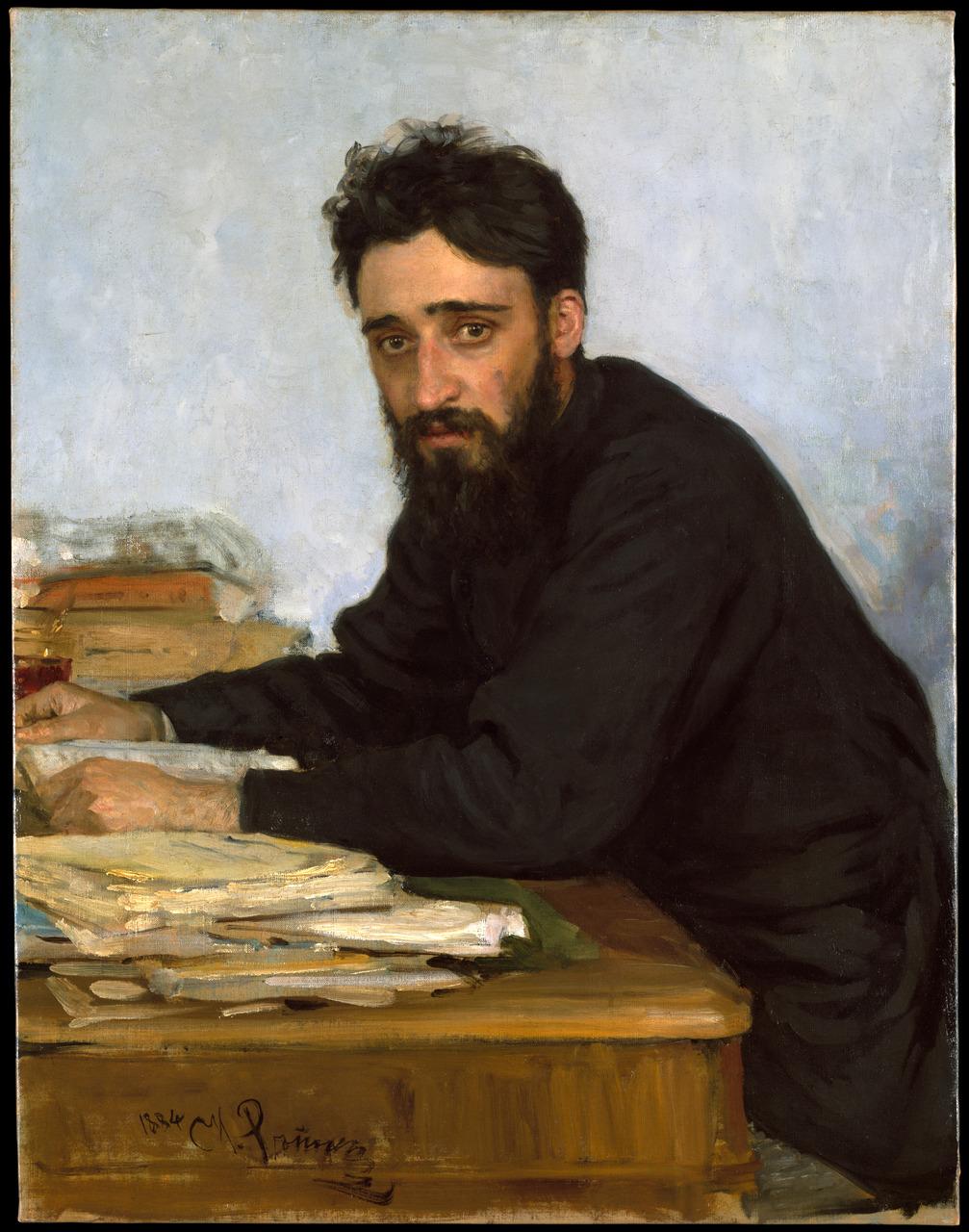 Vsevolod Mikhailovich Garshin , 1884 Ilia Efimovich Repin (Russian, 1844–1930)
